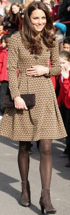 The Duchess Kate Middleton wearing #orlakiely. #houseofireland