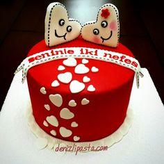 Kalpli pastalar Sevgiliye özel pastalar www.denizlipasta.com