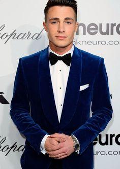 New  design Navy blue velvet groom tuxedos wedding suits