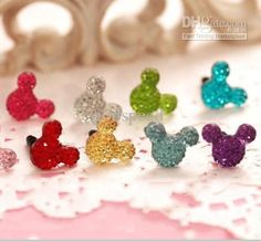 Wholesale Crystal Mickey Anti-dust Ear Cap Bling Dustproof Plug for iphone 4 4S 5G 3.5mm Jack Multi-colors, Free shipping, $0.12-0.13/Piece   DHgate