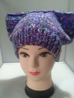 This item is unavailable Ear Hats, Beanie Hats, Flower Spray, Holly Berries, Cool Hats, Cat Ears, Mauve, Cosy, Vintage Items