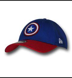 d26e7bf382a Captain America Red Blue 39Thirty Baseball Cap. New Era FittedFandom ...