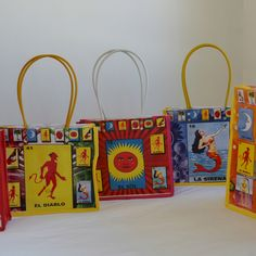 Mexican kids game - Loteria! Retro kitsch bag.
