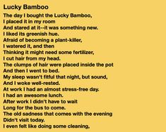 Click the link to read the rest and to read more poems on Instagram! Lucky Bamboo, Two Dogs, Human Behavior, Read More, Jade, Poems, How To Become, Things To Think About, Rest