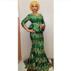 Latest Aso Ebi Styles For the Weekend African Lace Dresses, African Fashion Dresses, African Clothes, Nigerian Lace Styles, African Wear, African Kids, African Style, Agbada Styles, Latest Aso Ebi Styles