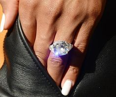 Ciara revealed her huge 16-carat engagement ring from her fiancé Russell Wilson.
