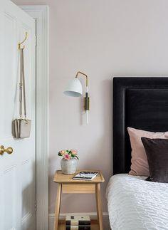 Velvet headboard in bedroom design | Amber Design Group