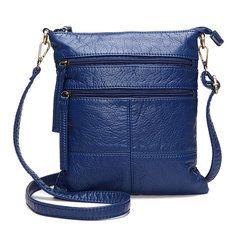 Jinqiaoer Women Casual Nylon Waterproof Multi-Pocket Messenger Zipper Crossbody Bag Shoulder Bag is Worth Buying - NewChic Mobile