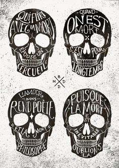 Skulls & Quotes (BMD Design) by BMD Design , via Behance
