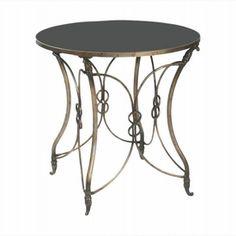 LightingShowroom.com: Antiqued Metal Bordeaux Side Table, $322.20