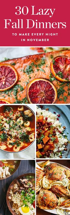 30 Low-Maintenance Dinners to Make Every Night in November (Yep, Even Thanksgiving) via @PureWow via @PureWow