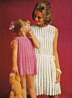 1887R girls and  ladies dress  crochet summer by EnglishCrochet