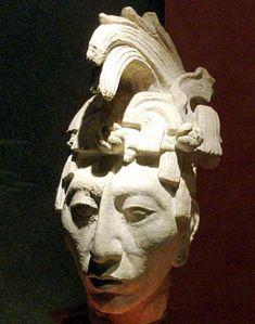 "Sculpture of King K'inich Janaab' Pakal, or ""Pakal the Great"". National Museum of Anthropology, Mexico City. Ancient Aliens, Ancient Art, Ancient History, Mayan History, Aztec Ruins, Mayan Ruins, Maya Civilization, Sculptures, Mexico"