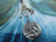 Moon Goddess crystal lightcatcher by BOHORAINBO on Etsy, $20.00