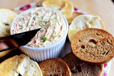 Veggie Cream Cheese Spread by Ree Drummond / The Pioneer Woman: easy and delicious. Try grilling the red peppers with 3 or four  whole cloves of garlic. Dice up the grilled red pepper, squeeze out the grilled garlic from the clove and add them to the finely  diced fresh celery, red onion  and carrots - the flavor is so much more intense. Try adding chopped broccoli head too. 10/10
