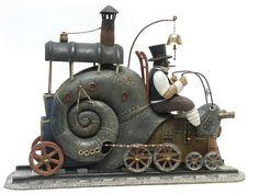 Steampunk snail by Gvozdariki Steampunk Kunst, Steampunk Dolls, Steampunk Fairy, Steampunk Design, Steampunk Animals, Junk Art, Paperclay, Assemblage Art, Dieselpunk