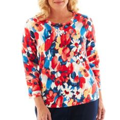 b977bcac00940 Alfred Dunner® Secret Garden Floral Print Sweater - Plus found at  JCPenney  Sweater Cardigan