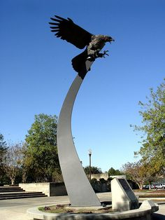 War Eagle! The Eagle in Front of Beard - Eaves Memorial Coliseum---I miss it!