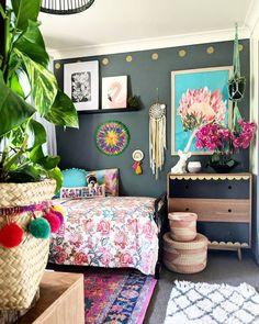 Productive enlisted boho chic home inspo Share this Boho Chic Interior, Bohemian Bedroom Design, Bohemian House, Interior Design, My New Room, My Room, Girl Room, Girls Bedroom, Bedroom Decor