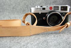 Super Good italy vegetable Leather camera strap fit FILM Camera or DSLR, minimalist design /CA2. $325.00, via Etsy.