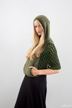 crochet sides to knit hoodie
