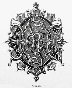 """Monogram """"Georges"""" by Charles Demengeot - 1881"""