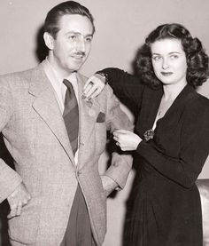 Walt Disney and Joan Bennett