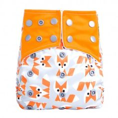 Baby'love Reusable Pondering Fox All-in-One Pocket Diaper