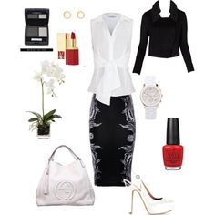 Black & white, created by roz-harman on Polyvore