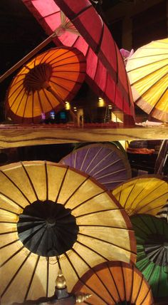 Pretty and colorful umbrellas