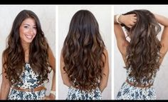 Big Voluminous Curls Hair Tutorial