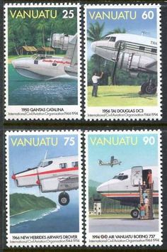 Vanuatu 641 644 MNH Aviation Aircraft S9219 | eBay
