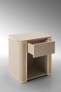 FENDI NIGHTSTAND with GoLDEN DETAILS | Pastel tones are important to make your master bedroom look charming and fancy with the good taste of luxurious interior design | http://masterbedroomideas.eu #luxuryfurniture #interiordesign #masterbedroomideas