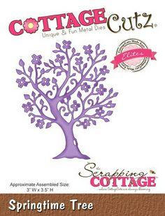 Cottage Cutz Springtime Tree Frühlings Baum von Prell Versand auf DaWanda.com