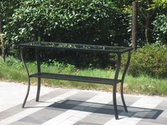 Outdoor Aluminum Riviera Console Patio Table - Black Pebble Lane Living,http://www.amazon.com/dp/B00F2QTNXM/ref=cm_sw_r_pi_dp_-ORHtb08CTYM3041