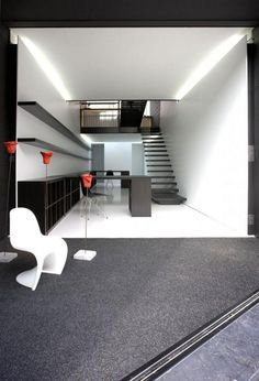 Black Floor Plan Ideas Look Elegant And Modern Modern Office Design Black  Color Exterior In Narrow
