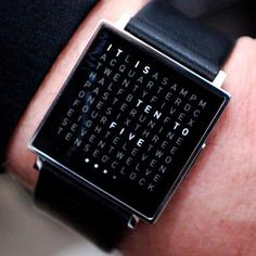 My must have watch: Qlocktwo Watch.