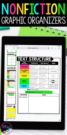 Teaching nonfiction reading skills is so much easier with these digital graphic organizers for any nonfiction text or reading comprehension passage!  Use for distance learning in Google Classroom (Google Slides) with students in third grade, fourth grade, or fifth grade.  Digital reading response for finding nonfiction text features, nonfiction text structure, finding text evicence, citing text evidence, fact finding, main idea and supporting details Close Reading, Guided Reading, Teaching Reading, Reading Comprehension Strategies, Writing Strategies, Elementary Teaching, Upper Elementary, Reading Response, Reading Skills