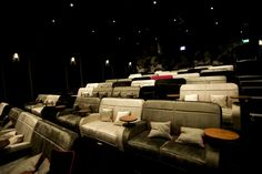 The three screen luxury cinema in Birmingham also has a plush bar and a diner but a ticket will cost you Cinema Seats, Cinema Theatre, Cinema Room, Movie Theater, Movie Decor, Stadium Seats, Home Theater Design, Home Cinemas, Cinema