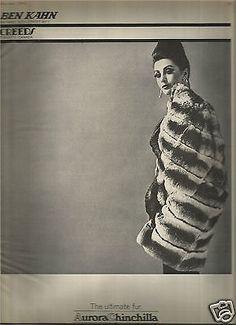 60-039-s-Vintage-Creeds-Ben-Kahn-Aurora-Chinchilla-Fur-Advertisement-1962