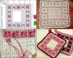 It is a website for handmade creations,with free patterns for croshet and knitting , in many techniques & designs. Crochet Potholders, Crochet Tablecloth, Crochet Kitchen, Crochet Home, Crochet Stitches Patterns, Stitch Patterns, Crochet Classes, Filet Crochet, Crochet Flowers