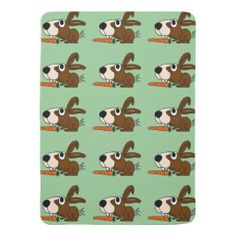 Cute Bunny Rabbit with Carrot Baby Blanket #bunny #rabbits #baby #blankets #Easter #funny And www.zazzle.com/naturesmiles*