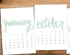 diy calendar mint - Buscar con Google