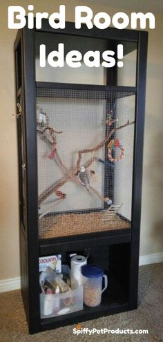 Check Out These Spiffy Pet Accessories For Your Bird Room!Check Out These Spiffy Pet Accessories For Your Bird Room!Check Out These Spiffy Pet Accessories For Your Bird Room! Parakeet Care, Parakeet Toys, Diy Parakeet Cage, Fancy Parakeet, Diy Bird Cage, Bird Cages, Cages For Birds, Bird Cage Stand, Pets