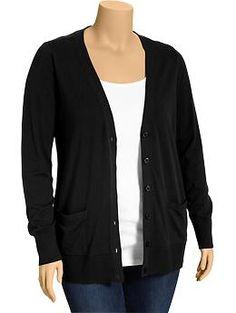 women's plus button-front v-neck cardis   old navy   $36.94