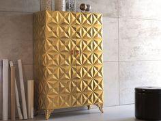 STORAGE BATHROOM CABINET WITH DOORS DIAMOND | MOBILE GIORNO FOGLIA ORO DIAMOND COLLECTION BY BIZZOTTO | DESIGN TIZIANO BIZZOTTO