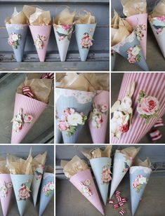 Gift Wrapping, but without the tacky appliqués. Valentine Crafts, Easter Crafts, Christmas Crafts, Victorian Crafts, Quilled Creations, Paper Cones, Diy Crafts For Gifts, Christmas Makes, Craft Sale