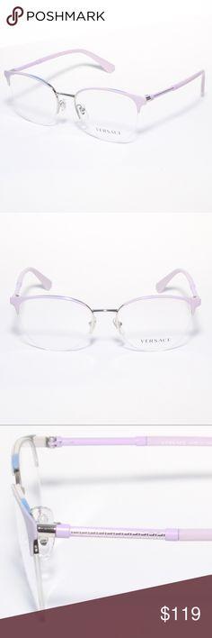 a721dea3c08 Versace Eyeglasses 1247 1000 Lilac Purple-Si Brand new authentic Versace  Eyeglasses 1247 1000 Lilac Purple-Silver Semi Rimless Comes with Generic  Case