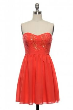 Lace Affair All that Glitters in Coral $72.99 Image 1