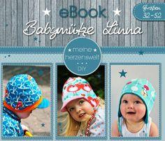 Nähanleitungen Baby - ★ eBook ★ Babymütze Linna ★ Größe 32-52 ★ - ein Designerstück von MeineHerzensweltDIY bei DaWanda